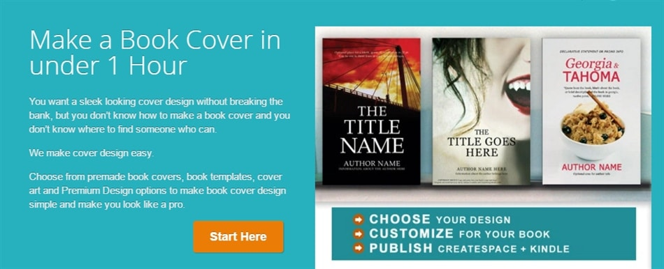 Coverdesigner.com home page copywriting