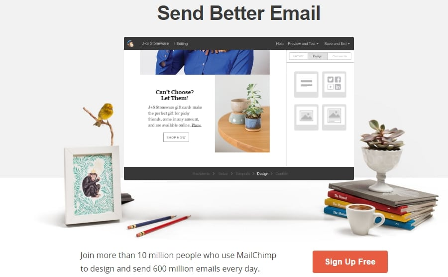 Mailchimp value proposition - Send better email