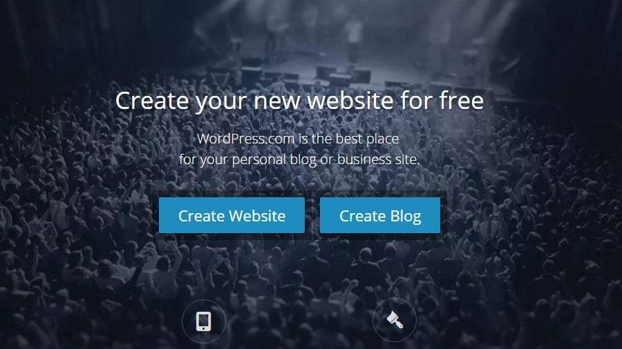 The wordpress.com value proposition - Create your website for free